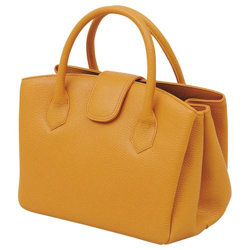 日本製牛革ジャバラ式手提げバッグ(キャメル) 雑貨 ホビー インテリア 雑貨 キャリングバック【送料無料】
