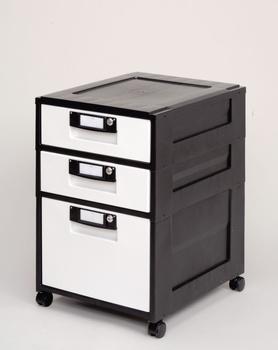 アイリスオーヤマ オフィスキャビネット HG-321 キャビネット ブラック HG-321(代引き不可)【送料無料】