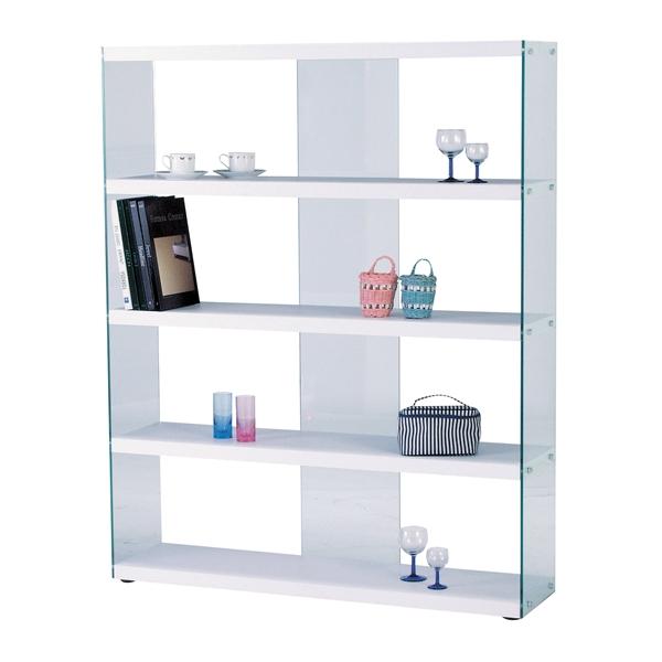 ワイドグラスシェルフ [HAB-625WH] エイチ・エイ・ビー hab シリーズ 収納 ラック 棚 家具 インテリア(代引不可)【送料無料】