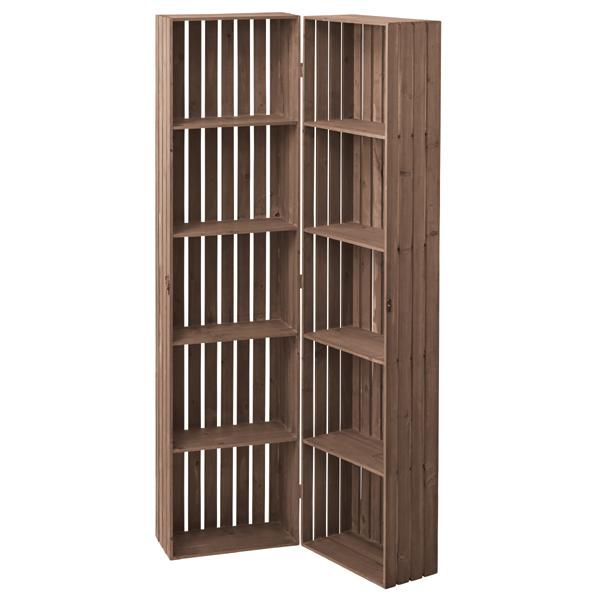 シェルフ 棚 シェルフボックス 幅80cm 高さ159cm 収納 アンティーク おしゃれ(代引不可)【送料無料】