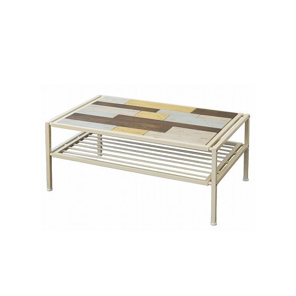 センターテーブル 天然木 テーブル ローテーブル リビングテーブル 北欧 木製 アイアン おしゃれ アンティーク 塗装(代引不可)【送料無料】