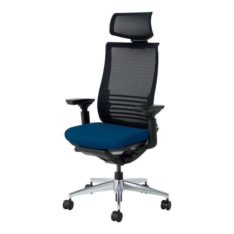 コクヨ オフィスチェア ベゼル CR-A2835E6CGMT6-V ヘッドレスト付 可動肘 フローリング用 【配送・組立・設置込】(代引不可)【送料無料】