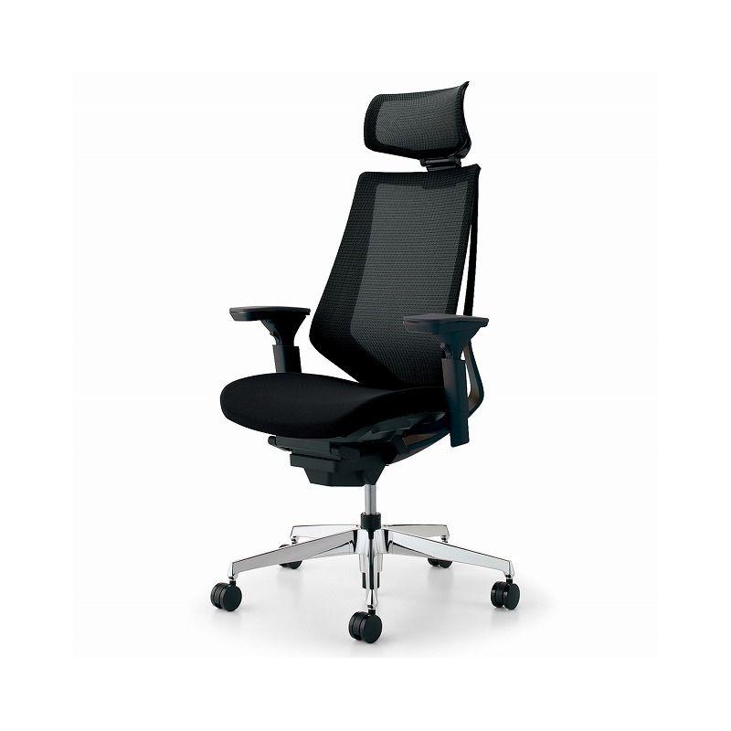 コクヨ オフィスチェア デュオラ CR-GA3015E6KZB6-W ヘッドレスト付 可動肘 カーペット用 【配送・組立・設置込】(代引不可)【送料無料】【S1】