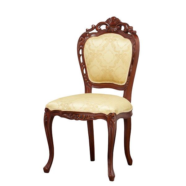 フランシスカチェアー 椅子 チェア 肘無し ホワイト ブラウン (代引き不可)【送料無料】