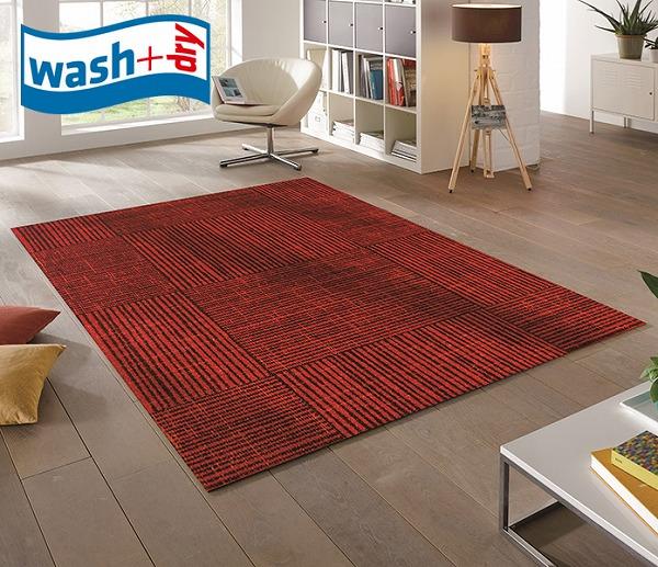ラグマット wash+dry K018I Marsala Mood 110×175cm 柄物 おしゃれ 滑り止めラバーつき(代引不可)【送料無料】