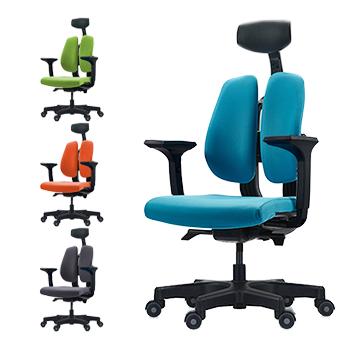 人体を探求した人間工学DUOREST(デュオレスト) D100 (ヘッドレスト有) 肘付き 背筋を伸ばす 2つの背もたれの椅子 パソコンチェア オフィスチェア ヘッドレスト 椅子 腰痛防止(代引き不可)【送料無料】