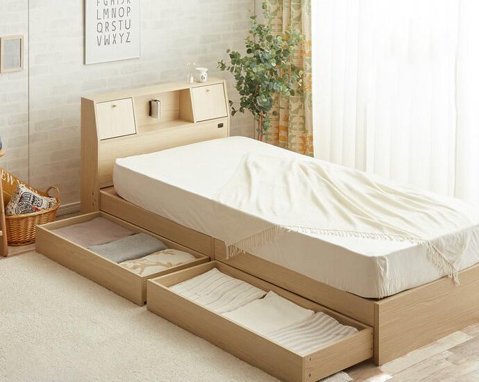 ベッド シングル フレーム 収納 引き出し付き Alloys アロイス 引出し付ベッド シングル 【フレームのみ】(代引不可)【送料無料】