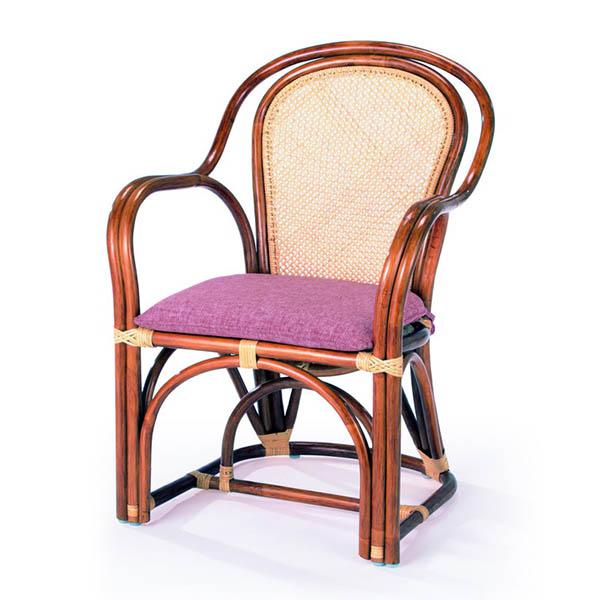 今枝ラタン ラタン パーソナルチェアー 籐 アームチェアー アジアン ダイニングチェアー 肘付き 椅子 1人掛け A-36-3A【送料無料】