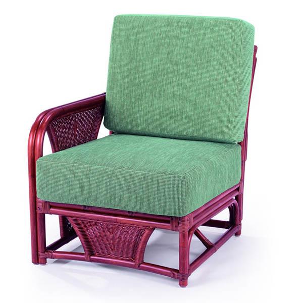 今枝ラタン 応接椅子 布張り チェア 籐チェア ワンアーム 1人掛け 来客用 ロビー おしゃれ オフィス家具 インテリア A-600-1D【送料無料】