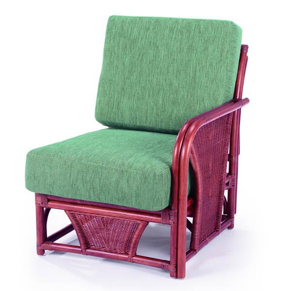 今枝ラタン 応接椅子 布張り 肘付きチェア 一人用 軽応接 籐チェア 応接用 来客用 チェア イス おしゃれ A-600-3D【送料無料】