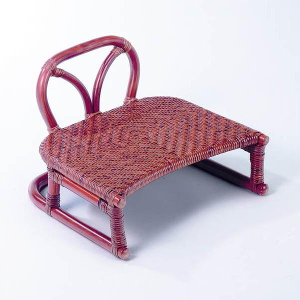 今枝ラタン 籐 背付正座椅子 アジアン家具 高級ラタン エスニック バリ 高品質 温浴備品 おしゃれ 高耐久 長持ち SZ-204D【送料無料】