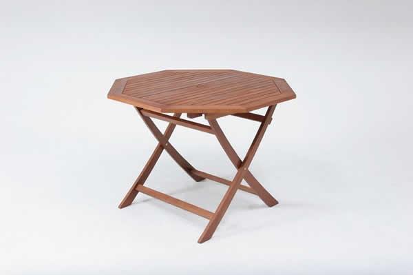 八角テーブル 110cm GT05FB ブラウン【送料無料】(代引き不可)【table0901】
