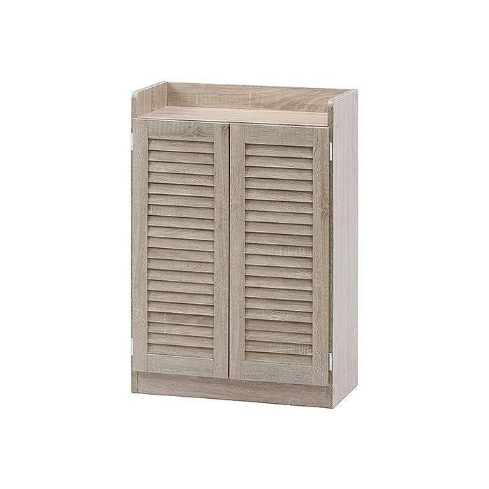 ルーバーシューズボックス(オープントップ) W600×D335×H900mm おしゃれ ホワイトオーク(代引不可)【送料無料】