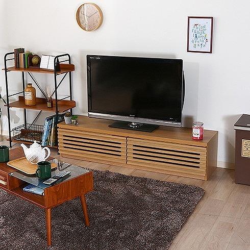 TV台 W1500×D400×H350mm おしゃれ テレビ台 ローボード ナチュラル(代引不可)【送料無料】