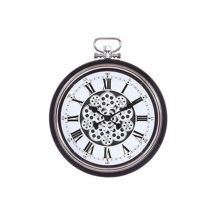 掛時計 ギア W520×D85×H642mm ABS樹脂 スチール ウォッチ おしゃれ ブラック(代引不可)【送料無料】