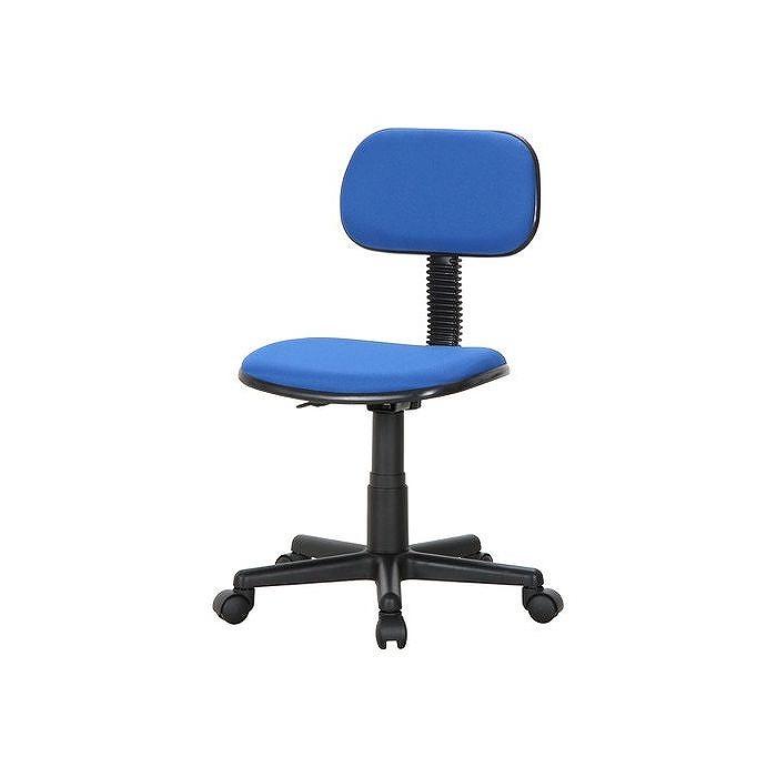 オフィスチェアー W520×D550×H750~850mm 390~490mm ポリエステル ナイロン樹脂 鉄 おしゃれ ブルー(代引不可)【送料無料】