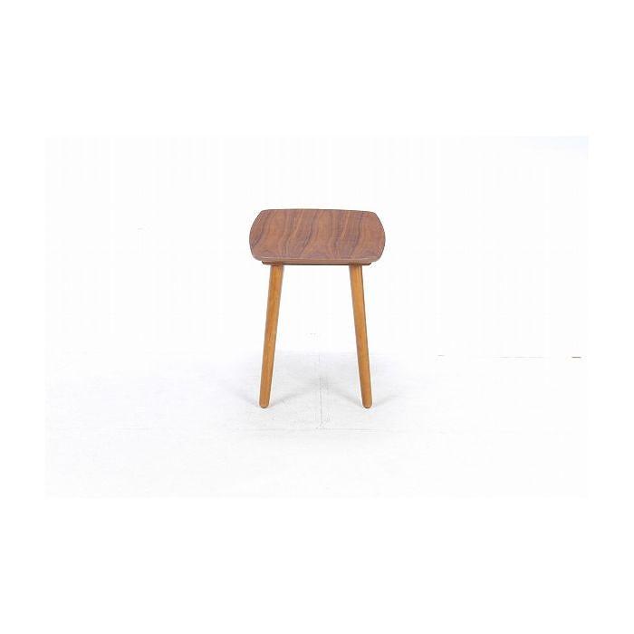 リビングテーブル W900×D500×H550mm 天然木化粧繊維板 おしゃれ(代引不可)【送料無料】