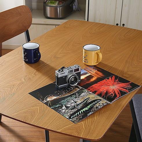 ダイニングテーブル ナチュラル×ブラック W1200×D750×H720mm アッシュ突板 おしゃれ(代引不可)【送料無料】