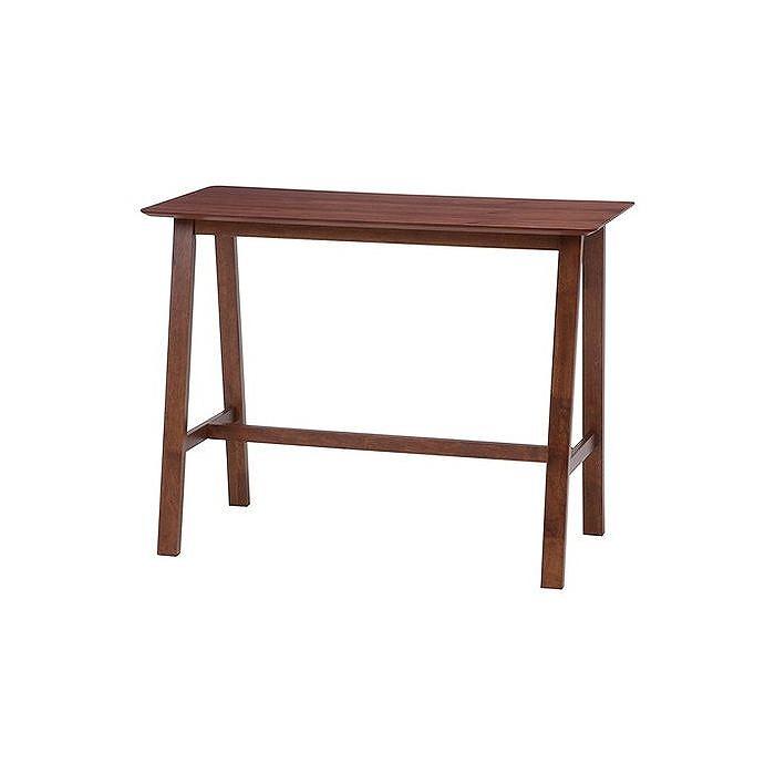 バーダイニングテーブル ブラウン W1200×D600×H915mm ウォルナット突板 おしゃれ(代引不可)【送料無料】