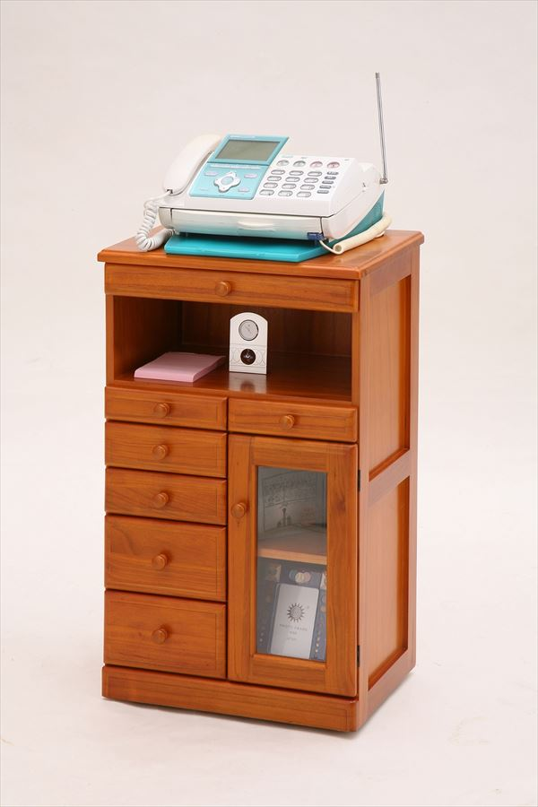 マルチFAXラック 電話台 ファックス台 シングル 幅50cm FAX台 ルーター プリンター 収納 収納棚 でんわ台 リビング収納 (代引不可)【送料無料】