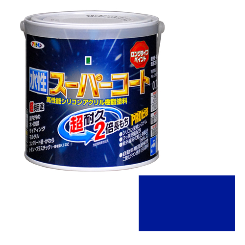 アサヒペン 人気 大特価!! 多用途水性スーパーコート 0.7Lアオ