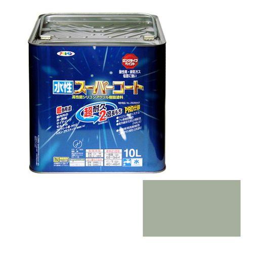 アサヒペン 多用途-水性スーパーコート 10L-ソフトグレー【送料無料】