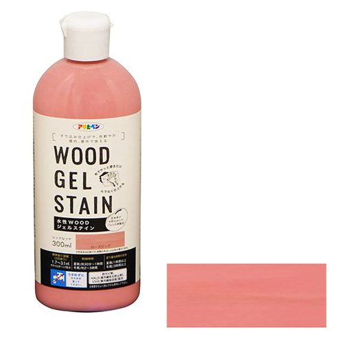 アサヒペン 水性WOODジェルステイン 300ML-ローズピンク 新品■送料無料■ 期間限定特価品