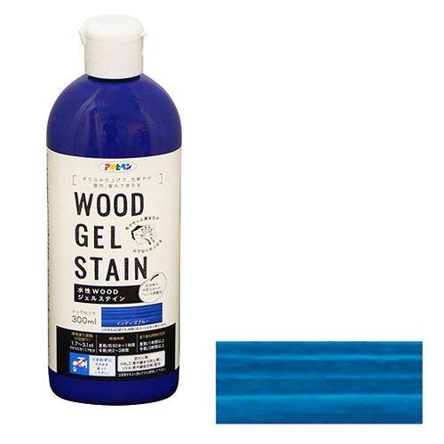 直輸入品激安 アサヒペン 水性WOODジェルステイン 推奨 300ML-INDブルー