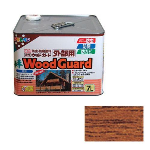 アサヒペン 油性ウッドガード外部用 7L-チークー03【送料無料】