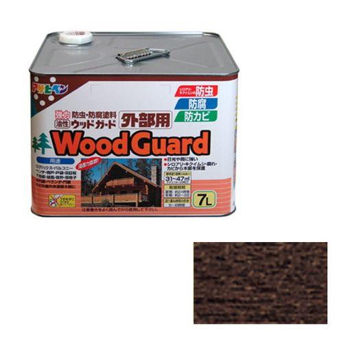 アサヒペン 油性ウッドガード外部用 7L-ダークオークー08【送料無料】