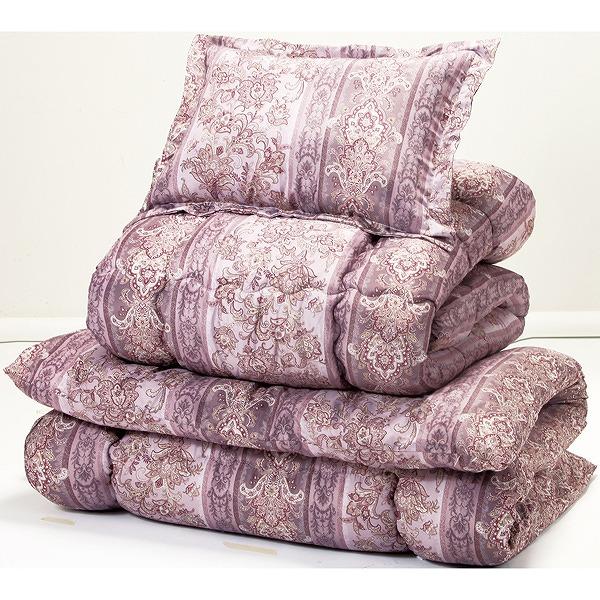ほこりの出にくいボリューム寝具セット シングル 8点セット ピンク系 布団セット ふとんセット(代引不可)【送料無料】