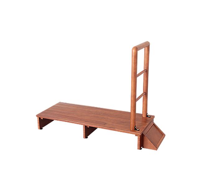 天然木 手すり付き玄関踏み台 100cm幅 手すり 踏み台 手すり付き玄関台 踏み台 木製玄関台 台 転倒防止 シンプル 木製(代引不可)【送料無料】