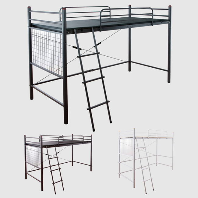 ロフトベッド 高さ調節可能 ロフトベッド キシミ低減マット使用 ベッド ロフト はしご付き(代引不可)【送料無料】