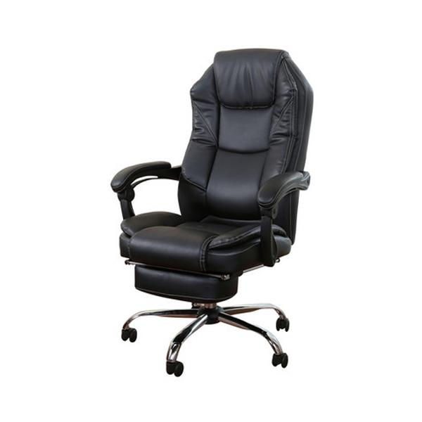 オフィスチェア スライドフットレスト付き オフィスチェア ボスチェア リラックスチェア チェア 椅子 イス デスクワーク(代引不可)【送料無料】