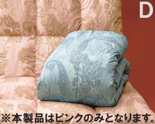 羽毛布団 日本製 ダブル ピンク ホワイトダウン 85% 羽毛掛布団 ホワイトダウン使用 ダブルサイズ 国産(代引不可)【送料無料】