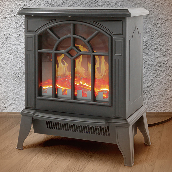 速暖!暖炉型ファンヒーター ブラック(代引不可)【送料無料】