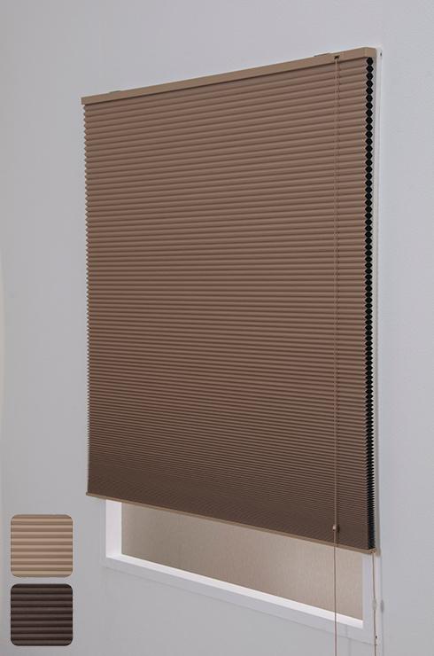 ハニカムプリーツシェード遮光 ブラインド シェード ロール インテリア ハニカムプリーツシェード遮光 180×180cm(代引不可)【送料無料】
