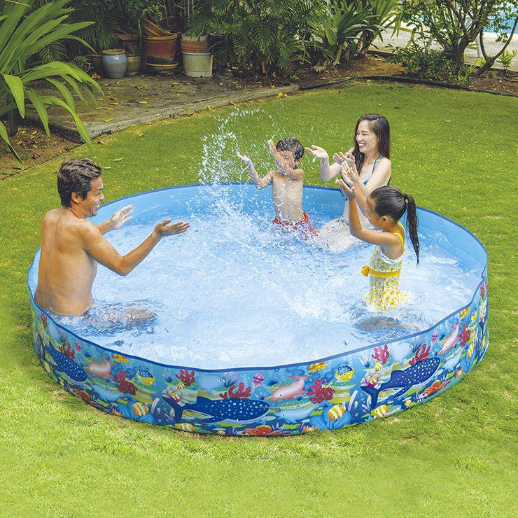 送料無料 JILONG ジーロン 超安い ガーデンプール240cm 卸売り ビニールプール 水遊び 家庭用 空気入れ不要 浮き輪 プール
