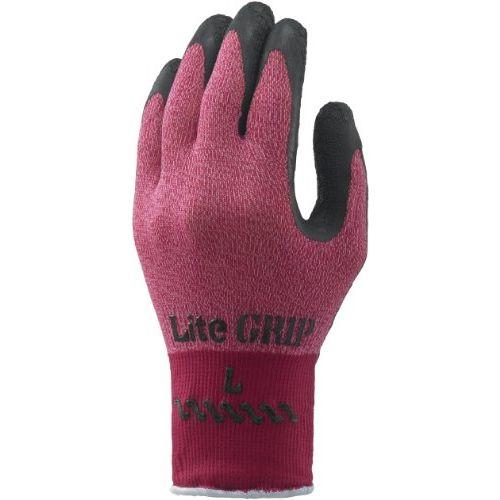 ショーワグローブ 当店は最高な サービスを提供します 軽作業用手袋 まとめ買い特価 No.341 ライトグリップ Mサイズ 1双 レッド