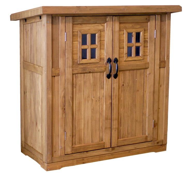 物置き 木製 収納庫 ガーデニング用品 小屋 小サイズ 物置 倉庫 収納庫 天然木 木製(代引不可)【送料無料】
