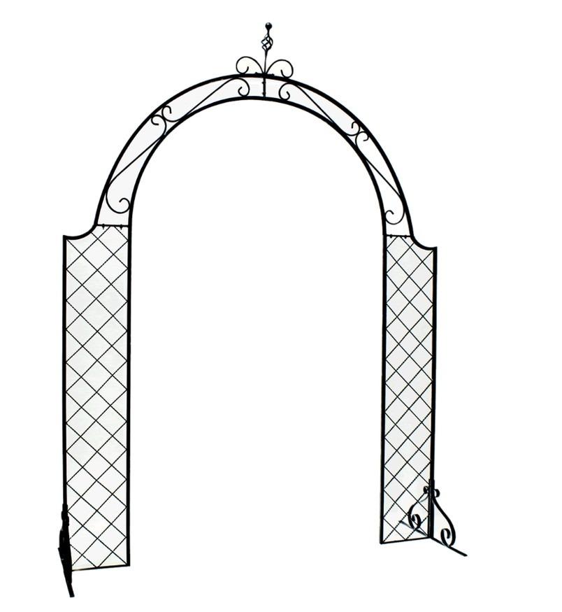メッシュアイアンアーチ アイアンアーチ 門 木製 バラ 薔薇 フェンス ガーデンアーチ(代引不可)【送料無料】