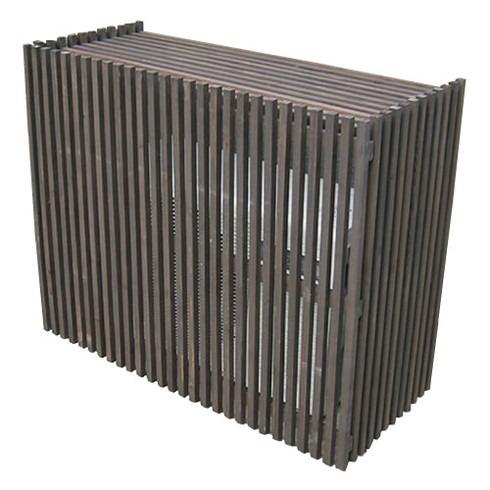 エアコン室外機カバー 日よけカバー 木製 天然木 エアコンカバー エクステリア DIY モダン 幅110cm 大型エアコン対応(代引不可)【送料無料】