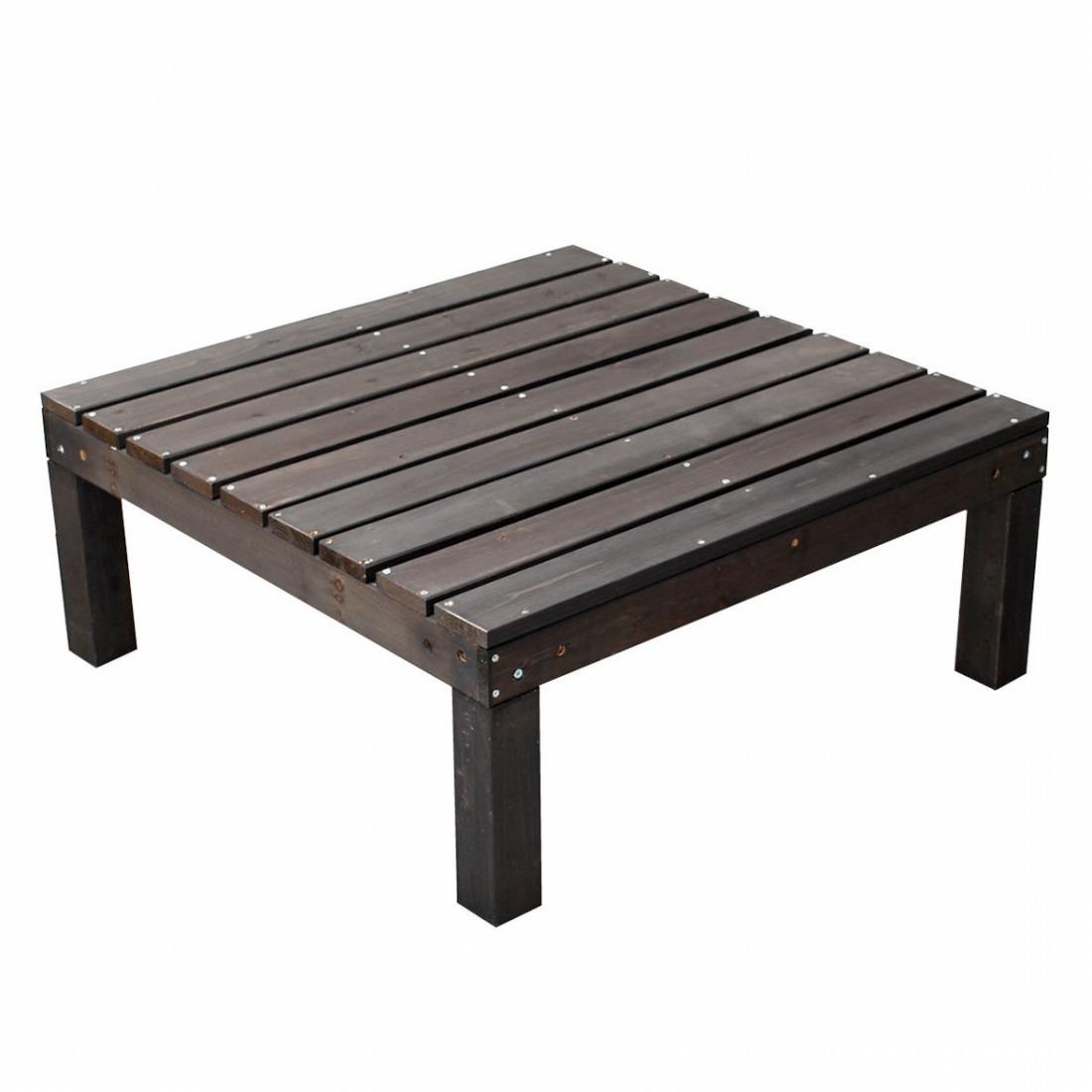 ユニットウッドデッキ harmonie(アルモニー)90×90 ウッドデッキ 簡単 縁側 本格的 DIY 木製 天然木 庭 ベランダ(代引不可)【送料無料】