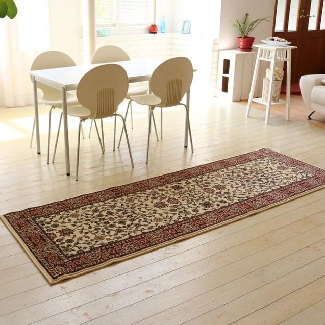ウィルトン織りラグ 80×240 カーペット 絨毯 じゅうたん ラグ(代引不可)【送料無料】