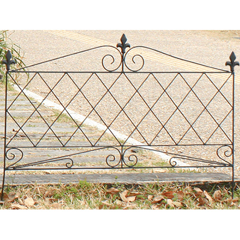 アイアンフェンス945 16枚セット 16枚組 フェンス 低い アンティーク ガーデン ガーデニング おしゃれ 北欧 庭園(代引不可)【送料無料】