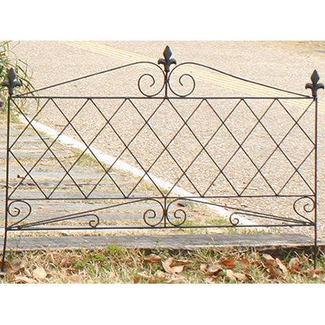 アイアンフェンス945 8枚セット 8枚組 フェンス 低い アンティーク ガーデン ガーデニング おしゃれ 北欧 庭園(代引不可)【送料無料】