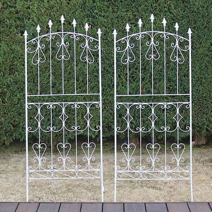 アイアンローズフェンス150 ロータイプ 2枚組 フェンス 低い 細め アンティーク ガーデン ガーデニング おしゃれ 北欧 庭園(代引不可)【送料無料】