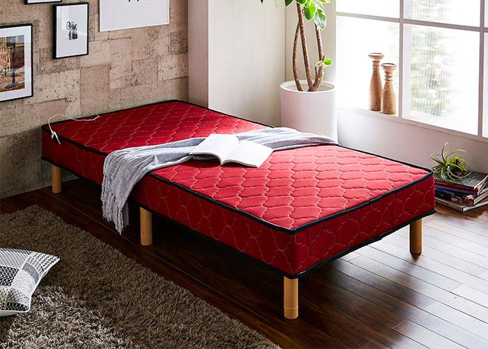 脚付きベッド 脚付きマットレスベッド 北欧 シングルベッド 一体型 ボンネル 足つきマットレス 脚付ベッド ウォーカー(代引不可)【送料無料】
