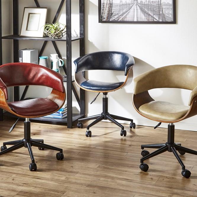 アンティークオフィスチェアー チェア チェアー キャスター キャスター付き キャスター付き椅子 パソコンチェア(代引不可)【送料無料】
