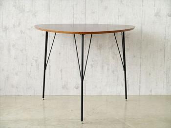 【DT-COLINA】 ダイニングテーブル 三本足 丸形 テーブル 食卓テーブル 丸テーブル 円卓 木製 新生活 北欧 ミッドセンチュリー(代引不可)【送料無料】